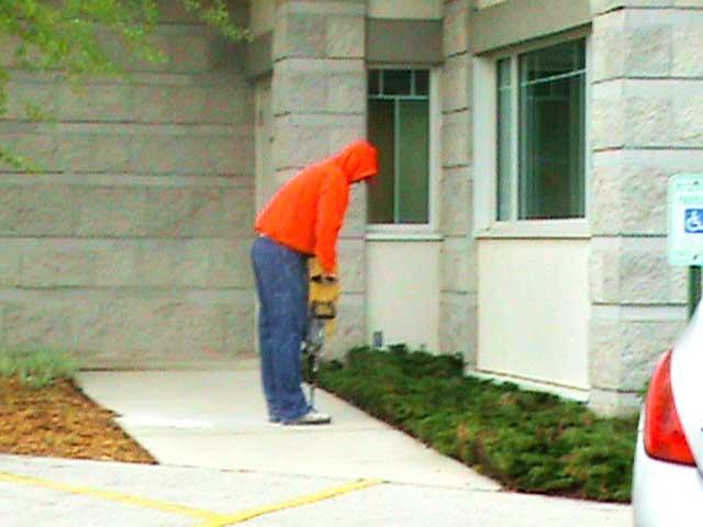 raiserite-mudjacking-concrete-raising-step1-drill-holes
